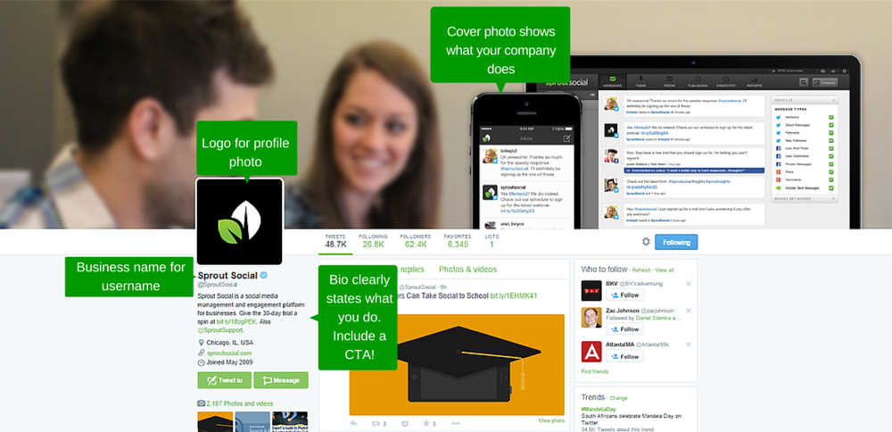Fully set up your brand profile - How To Grow Your Brand On Social Media
