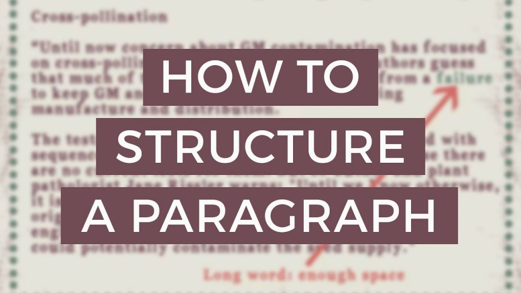 How To Structure A Paragraph